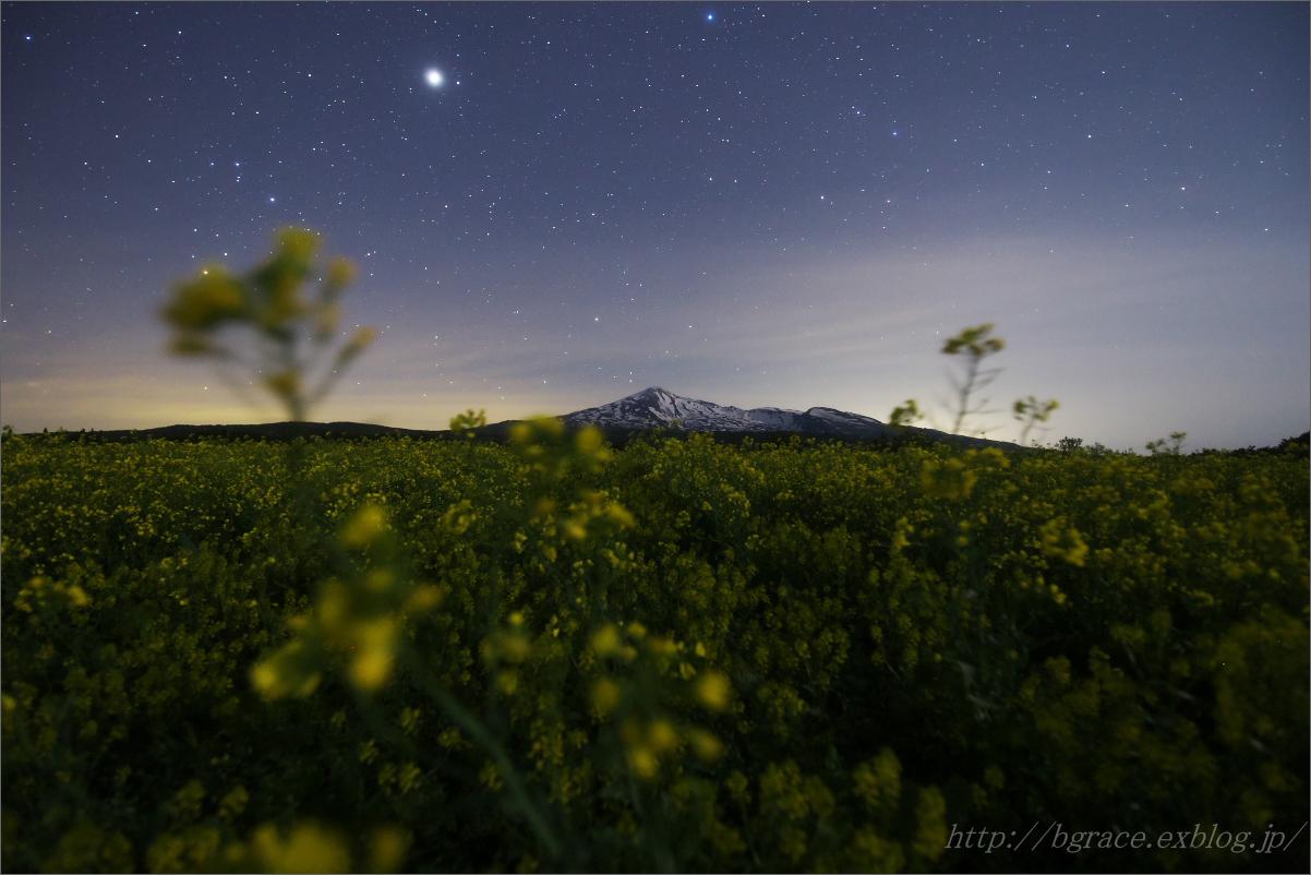 鳥海山と菜の花 星景 Vol.1_b0191074_20445809.jpg