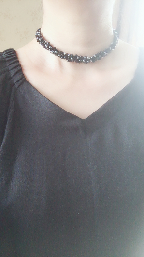 Black and crystal glass choker_b0183483_13023682.jpeg