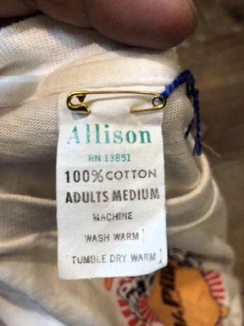 5月26日(土)入荷!デッドストック! 70s ALLISON  染込みプリント Tシャツ!_c0144020_14142023.jpg