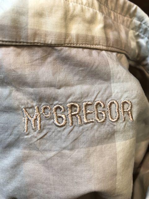 5月26日(土)入荷!Mc Gregore マクレガー ボックス オープンカラーシャツ!_c0144020_14355420.jpg