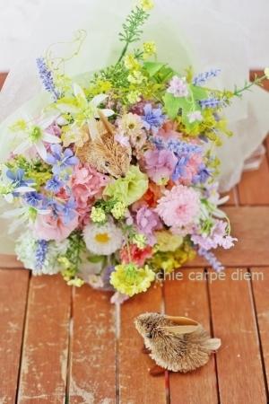 うさぎな花束 八芳園さまへ お母様からおばあさまへのプレゼントに_a0042928_19122701.jpg