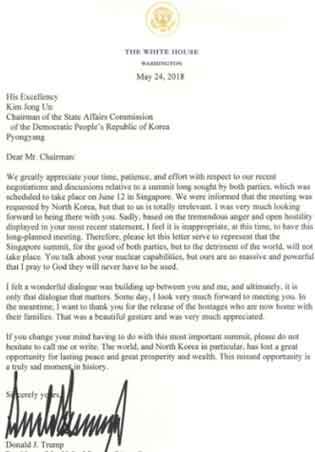『「米朝首脳会談は中止」トランプ氏、金委員長に書簡 』/ 画像_b0003330_142451.jpg