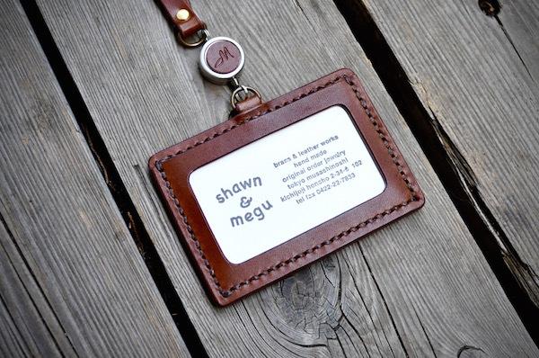 ID card leather strap_b0172633_22250607.jpg