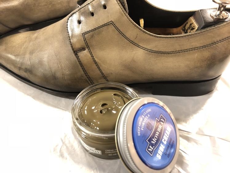 絶妙な色味の靴には…_d0166598_16224668.jpg