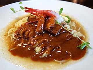 かみあり製麺@出雲 ★★☆ (甘えび和え麺+追い飯・限定)_f0080612_19374534.jpg