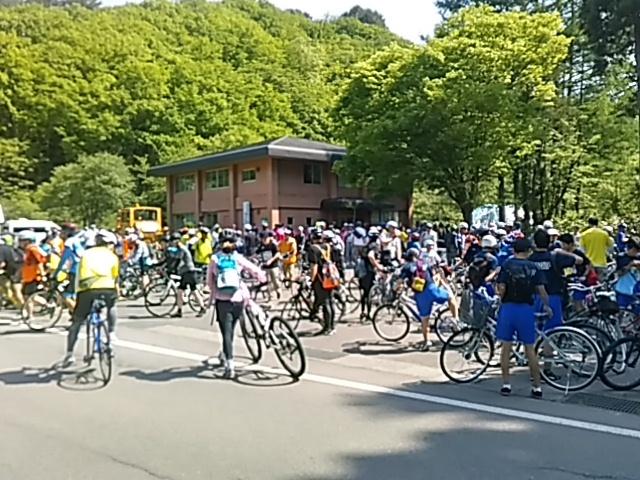 今日は「桧原湖一周ファミリーサイクリング大会」_c0160368_20134361.jpg