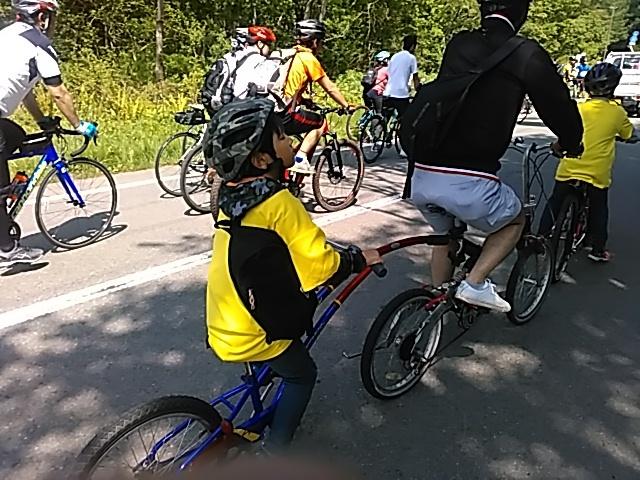 今日は「桧原湖一周ファミリーサイクリング大会」_c0160368_20221190.jpg