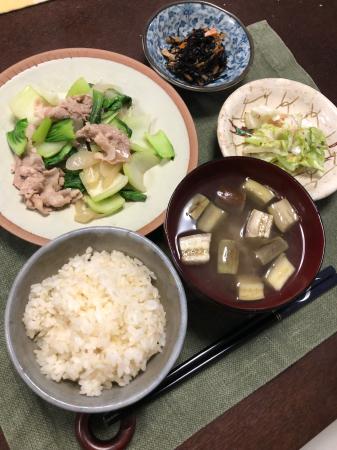 豚肉とチンゲン菜の炒め物_d0235108_20070166.jpg