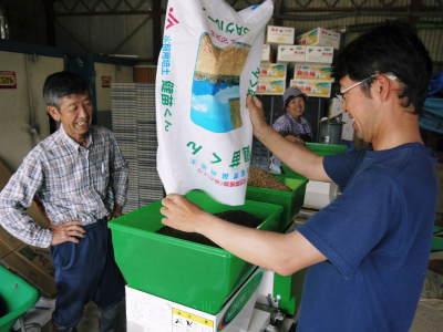 七城米 長尾農園 数量限定で販売中!平成30年度の米作りもスタート!苗床作りを現地取材!_a0254656_17432283.jpg