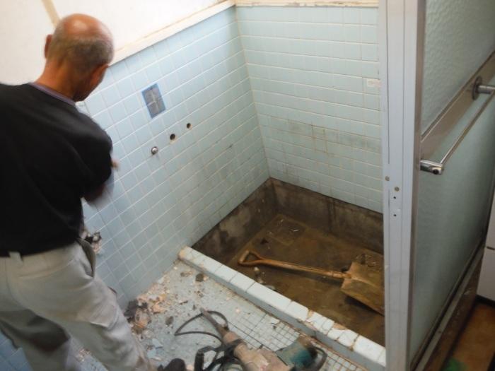 浴室リフォーム~タイル張り浴室解体_d0165368_02492816.jpg