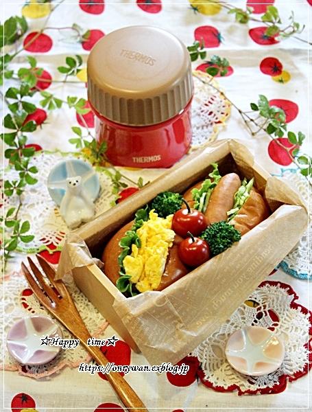ロールパンサンド弁当とおうちごはんとバラ・アイスバーグ♪_f0348032_18225667.jpg