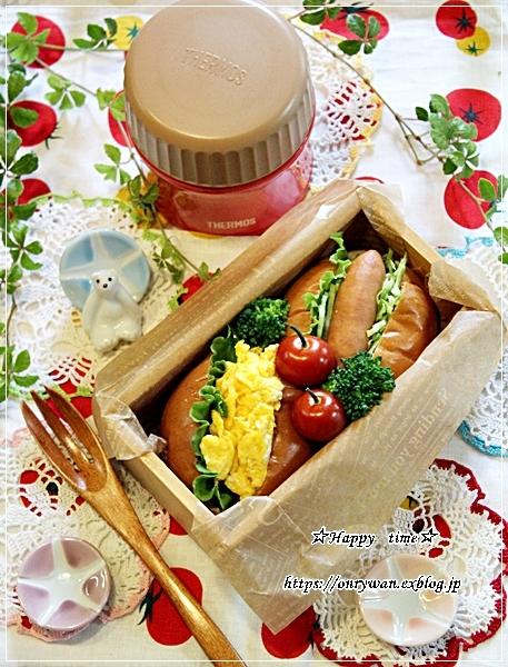 ロールパンサンド弁当とおうちごはんとバラ・アイスバーグ♪_f0348032_18230384.jpg