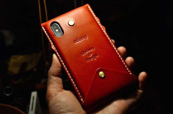 iphone X leather case_b0172633_17380461.jpg
