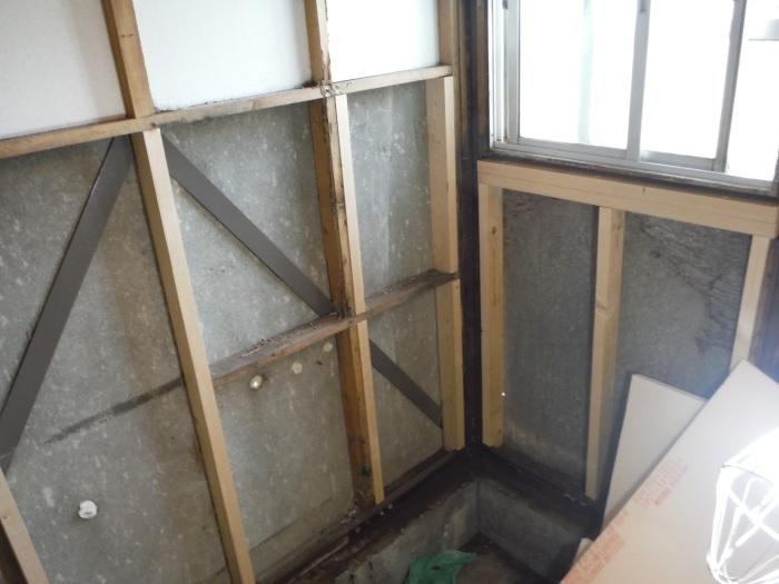 浴室リフォーム~木部補修_d0165368_01493532.jpg