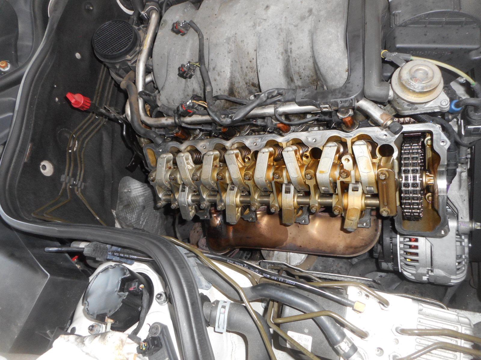 メルセデスベンツ E500(W211)整備 ~後編~ エンジンオイル漏れ修理_c0267693_18224522.jpg