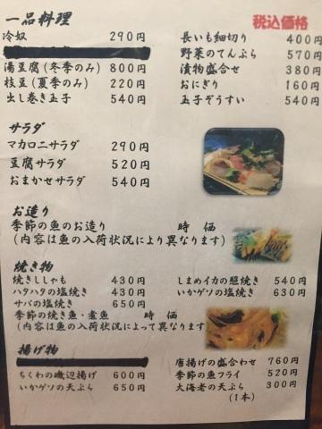 お食事の店 更科 湖山  お品書き記録_e0115904_02453550.jpg