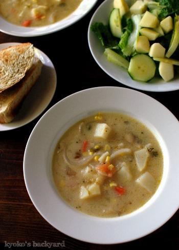 オーブン焼きチキン&野菜スープからのシチュー_b0253205_02384421.jpg