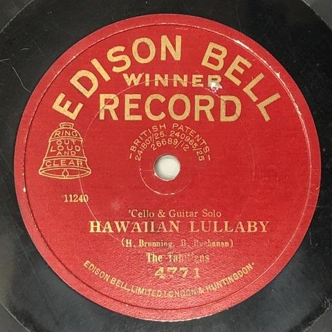 英エジソン・ベルのハワイアン風レコード_a0047010_11124379.jpg