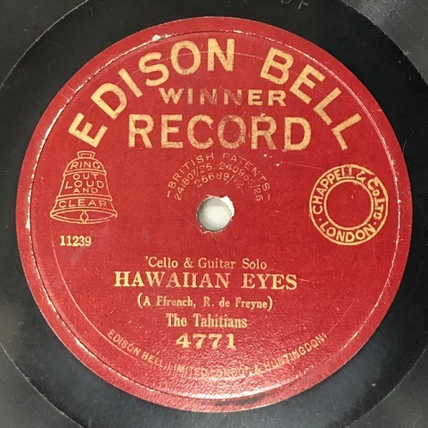 英エジソン・ベルのハワイアン風レコード_a0047010_11124897.jpg
