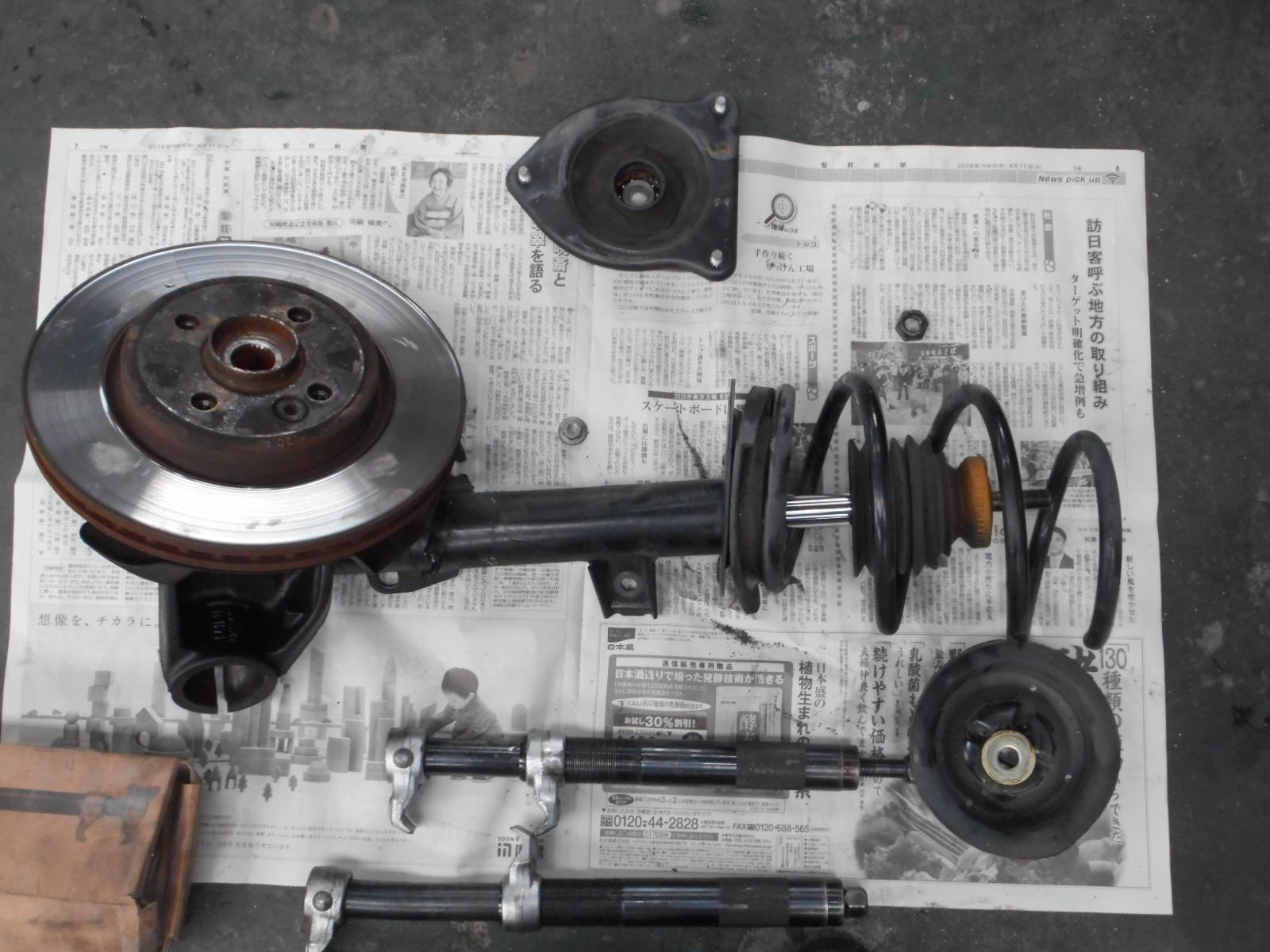BMW ミニクーパー (R50) ハンドル切ると異音 修理_c0267693_17255612.jpg