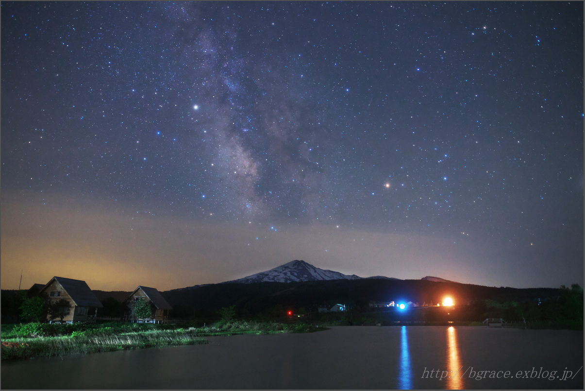 鳥海山と天の川_b0191074_20334108.jpg