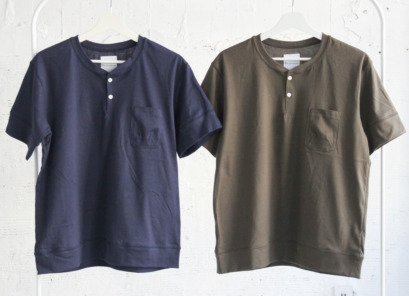 Henley Neck Pocket T-shirt_c0379477_20533207.jpg