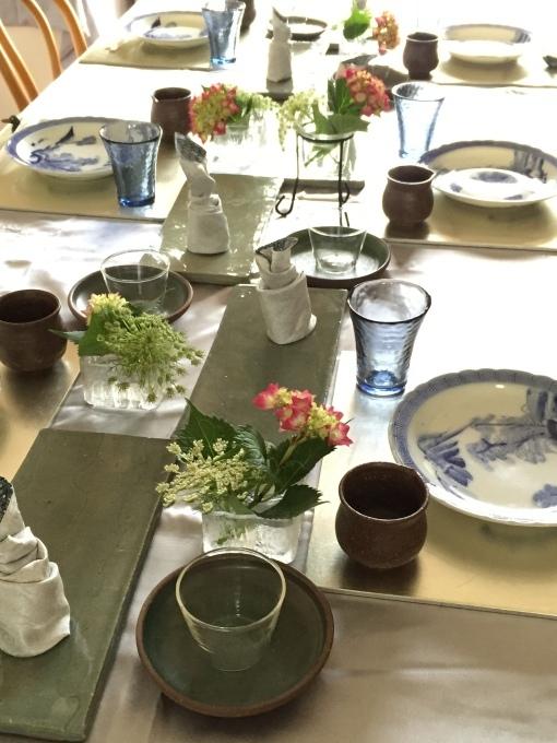 教室の花、蛍袋、人参の花、アジサイ_a0125981_14415551.jpg