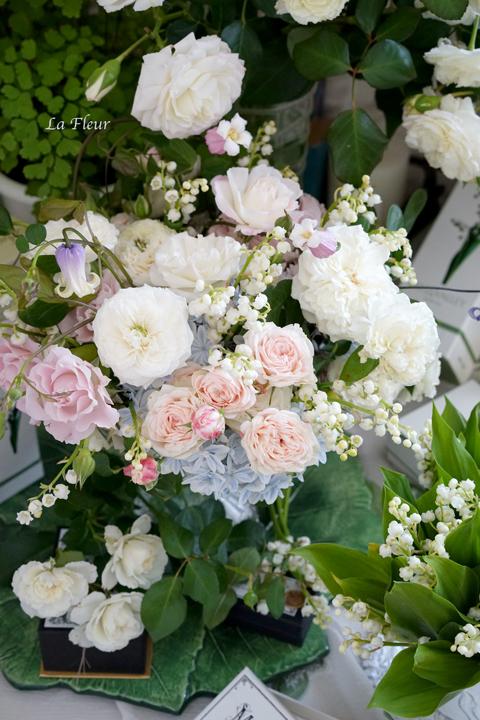 5月のレッスン スズランと市川バラ園のバラを使って_f0127281_17232739.jpg