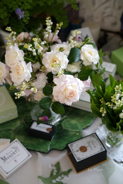 5月のレッスン スズランと市川バラ園のバラを使って_f0127281_17263521.jpg