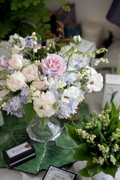 5月のレッスン スズランと市川バラ園のバラを使って_f0127281_17461161.jpg