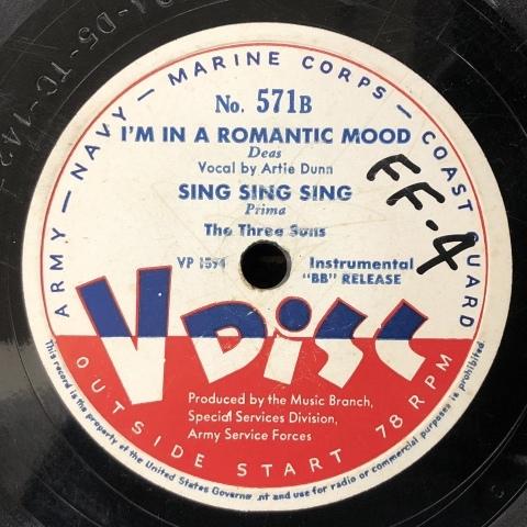 ルイ・プリマ/ザ・スリー・サンズのV-Disc_a0047010_19161930.jpg