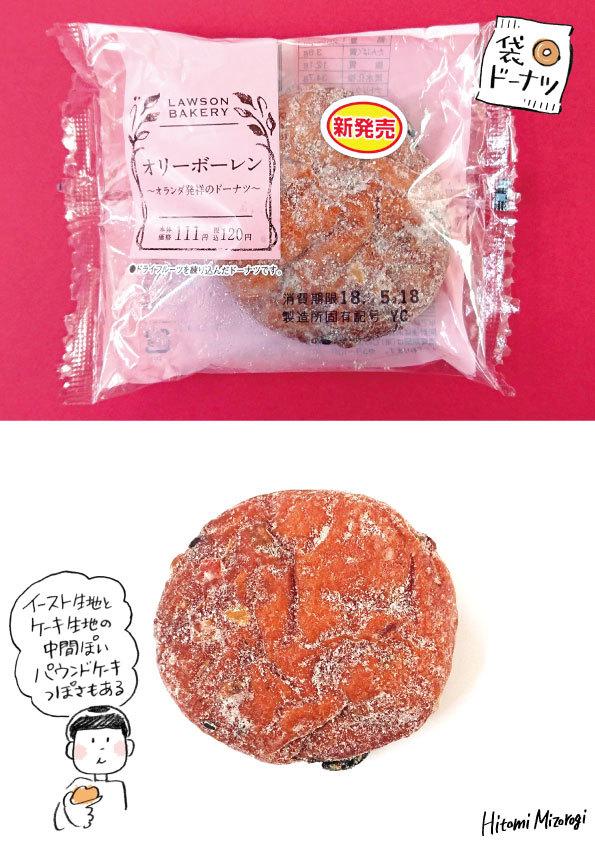【袋ドーナツ】ローソン「オリーボーレン」【パウンドケーキっぽさがある】_d0272182_17545731.jpg
