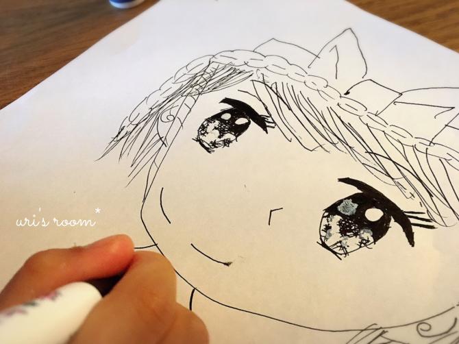 以前に買ったHAYトレイ、現在。それから…少女漫画家になりたい(かった)親子のお絵描き。_a0341288_00171548.jpg