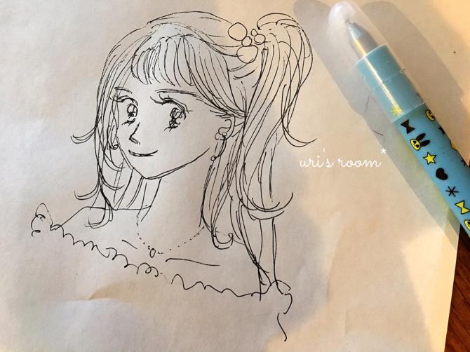 以前に買ったHAYトレイ、現在。それから…少女漫画家になりたい(かった)親子のお絵描き。_a0341288_00212711.jpg