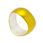 身につける漆 漆のアクセサリー バングル メビウス レモンゴールド色 坂本これくしょんの艶やかで美しくとても軽い和木に漆塗りのアクセサリー SAKAMOTO COLLECTION wearable URUSHI accessories Bangle bracelet Mobius lemon gold color 流れる曲線が手元を美しく華やかに演出するバングル、発色良い鮮やかなハッピーで元気の出る透明感のあるビタミンカラー、木に漆塗りのブレスレッドは素肌を包み込む様なぬくもりのある使用感が人気、かぶれ防止コートで安心して使えます。 #軽いバングル #漆のバングル #バングル #ブレスレッド #メビウス #レモンゴールド色 #れもん色 #流れるような曲線 #Bangle #bracelet #Mobius #lemongold #goldcolor #scalar