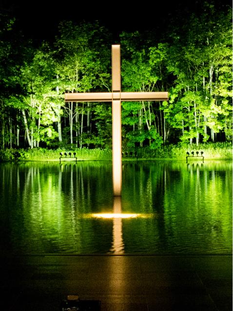 水の教会Night_d0214541_22574200.jpg