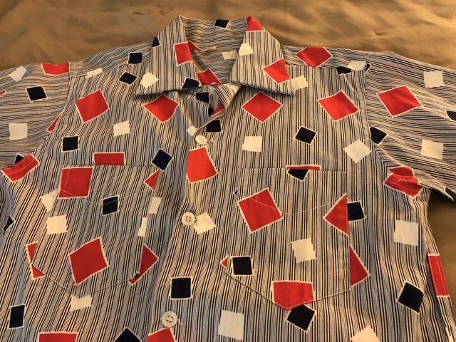 6月9日(土)入荷!50s all cotton オープンカラーボックスシルエット シャツ!_c0144020_13540127.jpg