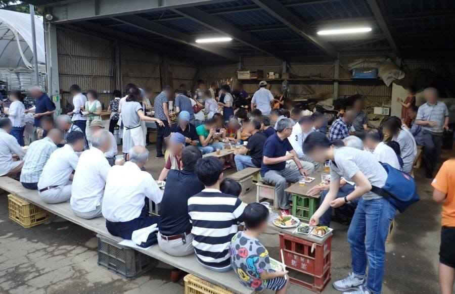 華農園(市民農園)の収穫祭&ホタルの夕べ_f0059673_20362261.jpg