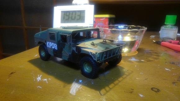 TAMIYA 軍用車完成 ハンウィー_d0202264_5403576.jpg