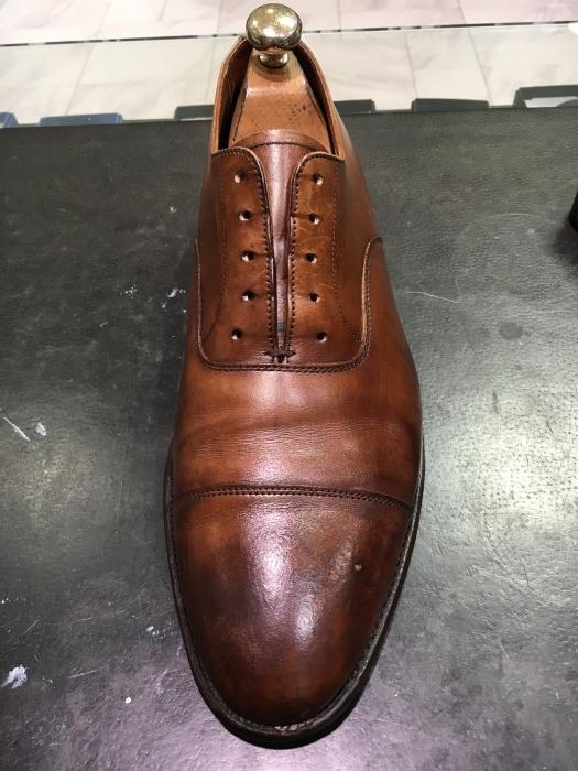 茶靴のシミ隠しにもバーガンディー_b0226322_11260008.jpg