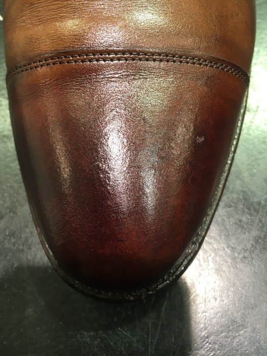 茶靴のシミ隠しにもバーガンディー_b0226322_11344246.jpg