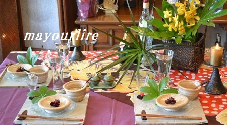5月 マユールライラ テーブルコーディネート&フラワー教室 テーブル編_d0169179_23310392.jpg