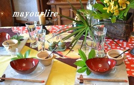 5月 マユールライラ テーブルコーディネート&フラワー教室 テーブル編_d0169179_23313804.jpg
