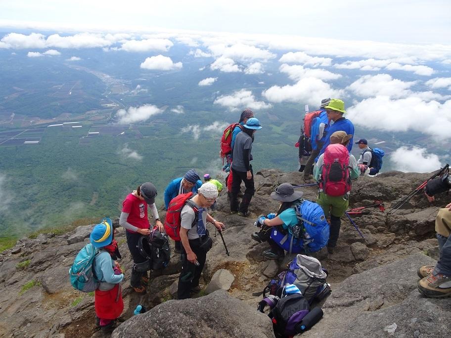 羊蹄山登頂100回達成祝賀登山会、2018.6.10ー同行者からの写真ー_f0138096_20284500.jpg