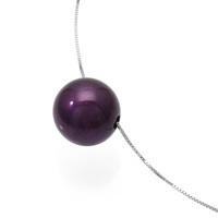 身につける漆 漆のアクセサリー ペンダント 木の実 箔紫色 スライド式ボックスチェーンコード シルバー 坂本これくしょんの艶やかで美しくとても軽い和木に漆塗りのアクセサリー SAKAMOTO COLLECTION wearable URUSHI accessories  pendants Nuts Purple color Adjustable Box Chain Code 香りたつような艶やかなお色が人気の高級感漂うパープル、ポロッとこぼれるような可愛らしさが魅力の素敵なフォルム、便利でスタイリッシュなスライド式のチェーンコードはお洋服に合わせて思い通りに微妙な長さ調節が可能です。 #軽いペンダント #漆のペンダント #木の実 #箔紫色 #古希 #喜寿 #プレゼント #pendants #purplecolor #ForPresent #ForGift #vividcolor