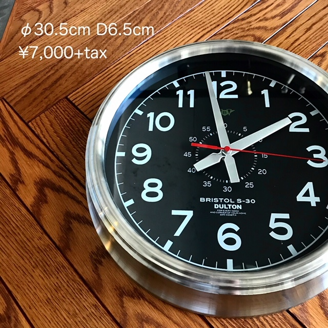 wall clock black dial_e0228408_15412107.jpg