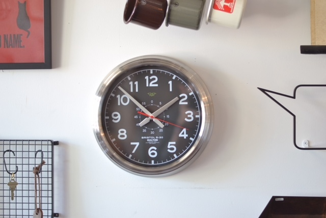 wall clock black dial_e0228408_15422033.jpg