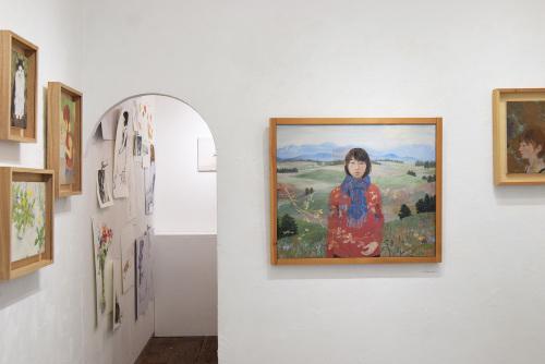 いつかの庭-真鍋修日本画展 @1日目_e0272050_16534742.jpg