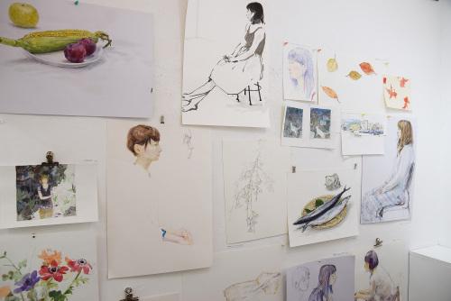 いつかの庭-真鍋修日本画展 @1日目_e0272050_16535622.jpg