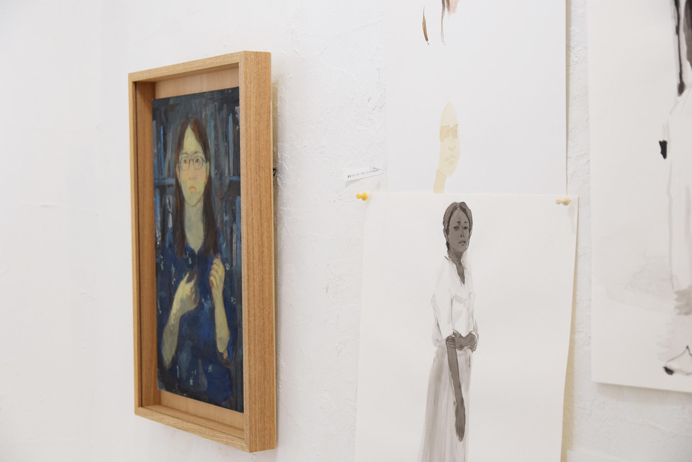 いつかの庭-真鍋修日本画展 @1日目_e0272050_17014938.jpg